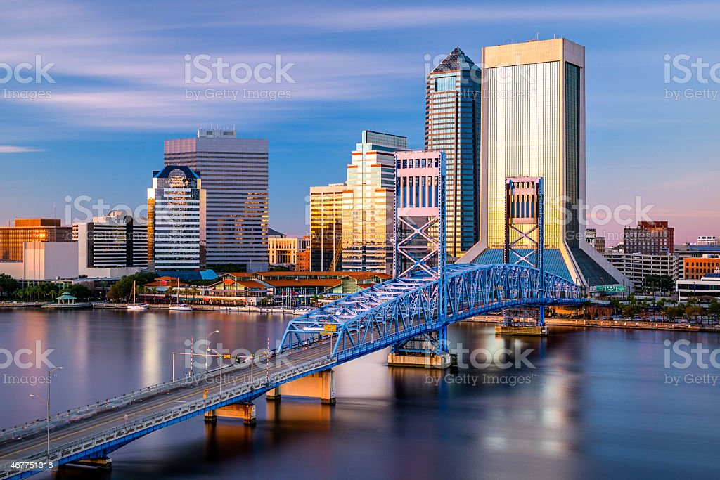 Jacksonville Cityscape stock photo