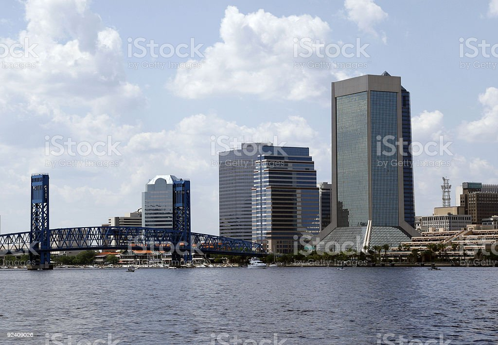 Jacksonville on the River royalty-free stock photo