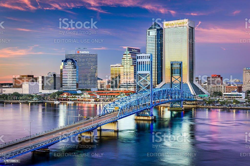 Jacksonville Skyline View stock photo