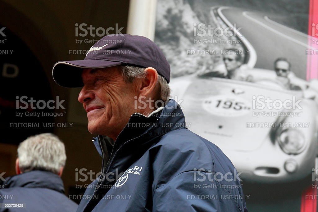 Jacky Ickx at Mille Miglia 2016 Edition stock photo