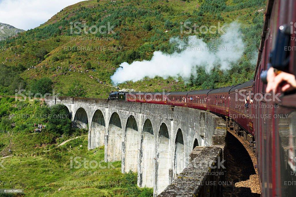 Jacobite steam train stock photo