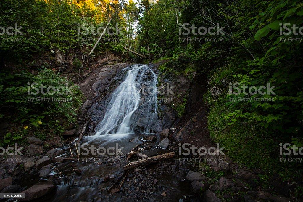 Jacob's Falls In Northern Michigan stock photo
