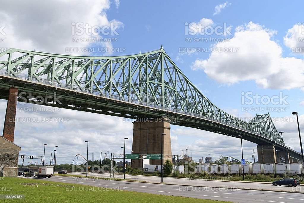 Jacques Cartier Bridge in Montreal royalty-free stock photo
