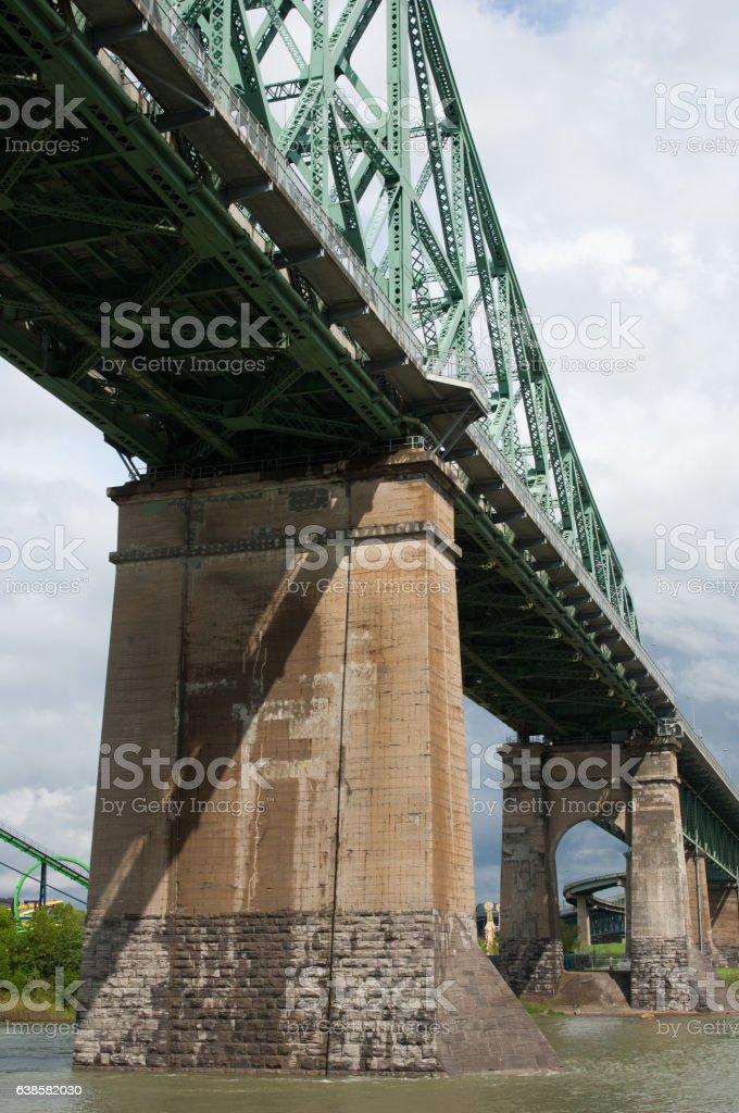 Jacques Cartier bridge (Pont Jacques Cartier) the stock photo