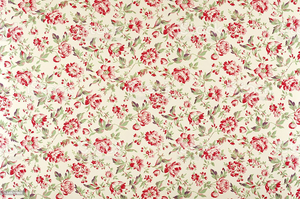 Jacquline Floral Antique Fabric stock photo