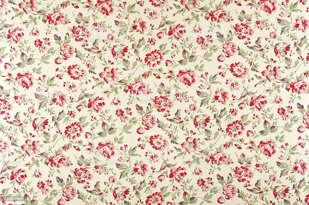 Jacquline Floral Antique Fabric stock photo