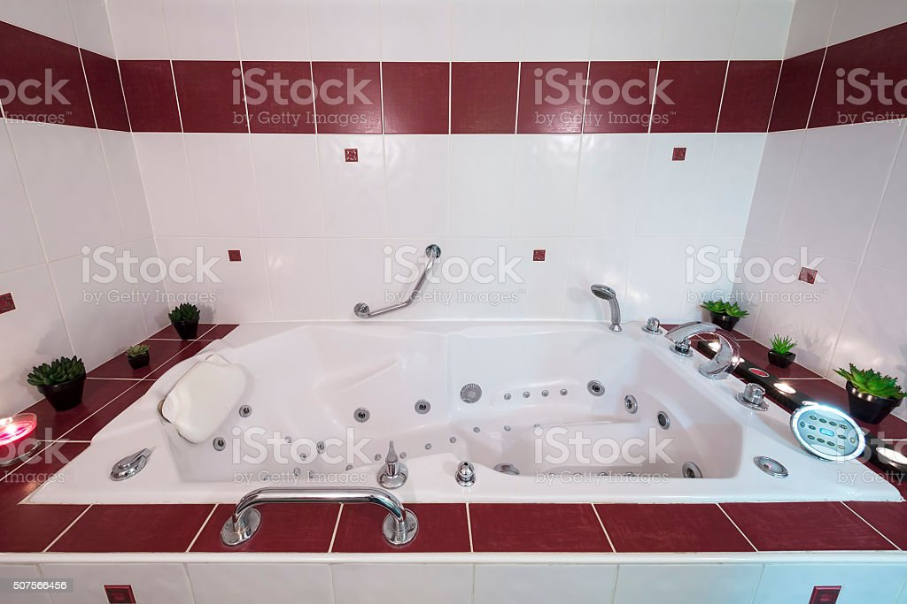 Jacuzzi bath stock photo
