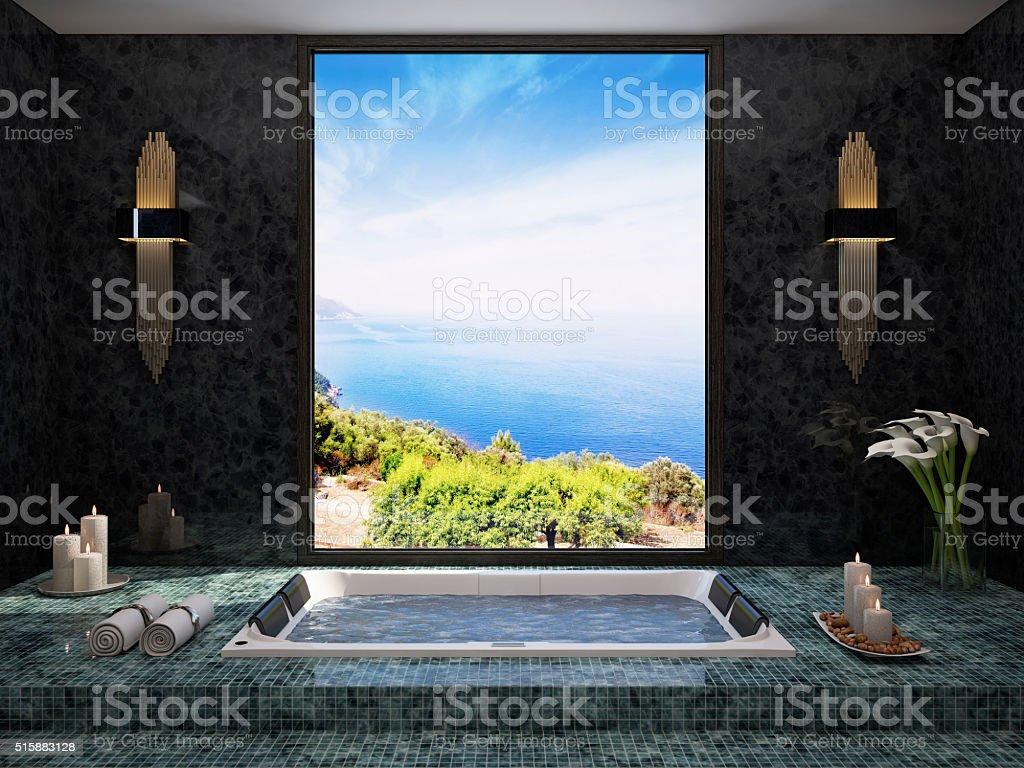 Jacuzzi-Spa View stock photo