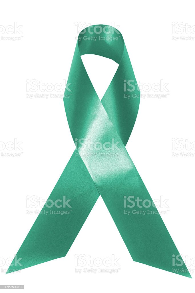 Jade awareness ribbon stock photo