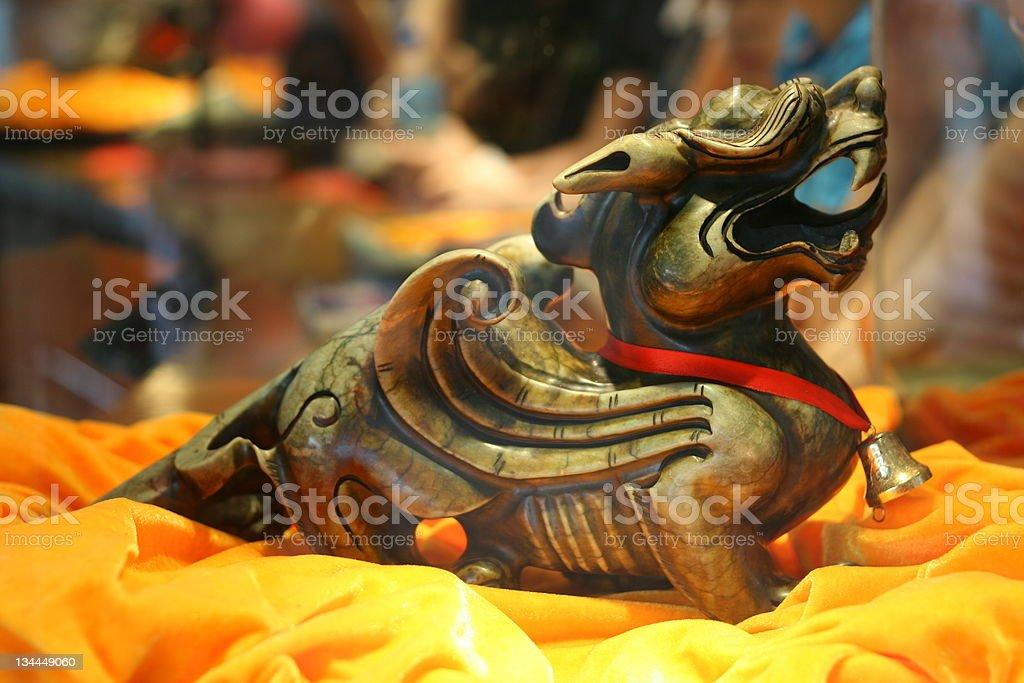 Jade god beast royalty-free stock photo
