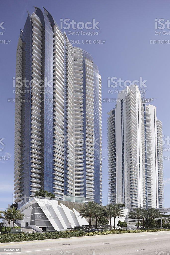 Jade Ocean Condominium Sunny Isles Beach Florida stock photo