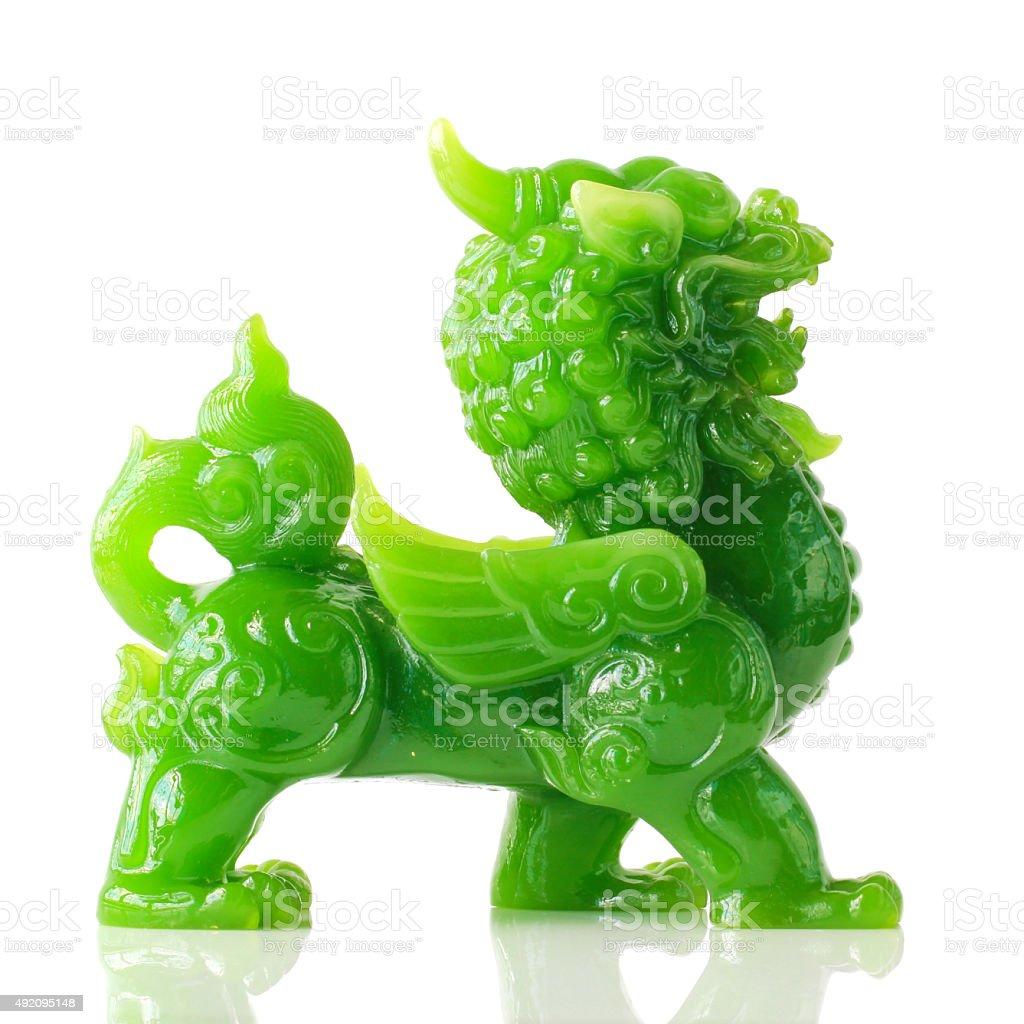 Jade Pixiu ,Chinese lucky animal mascot stock photo