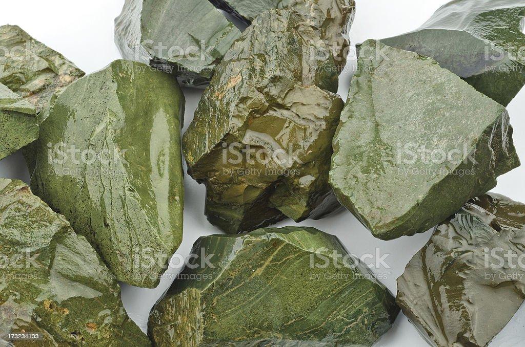 Jadeite - half precious stone. guaranteed authentic stock photo