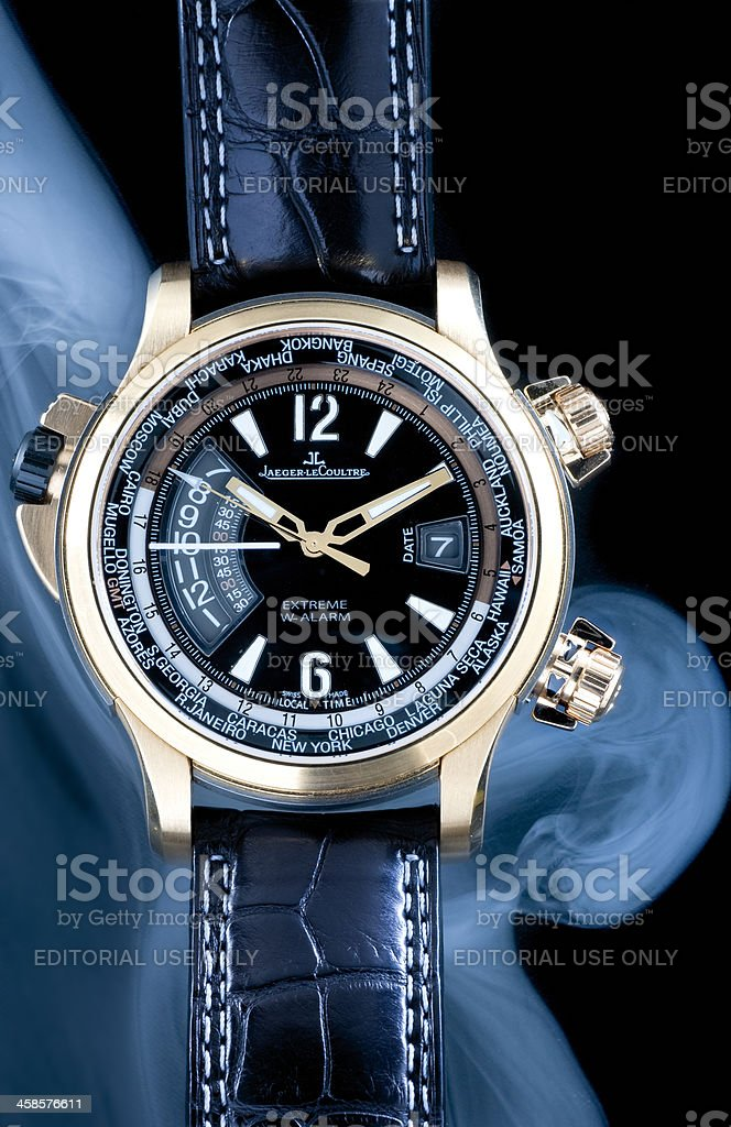 Jaeger-LeCoultre Master Compressor wristwatch stock photo