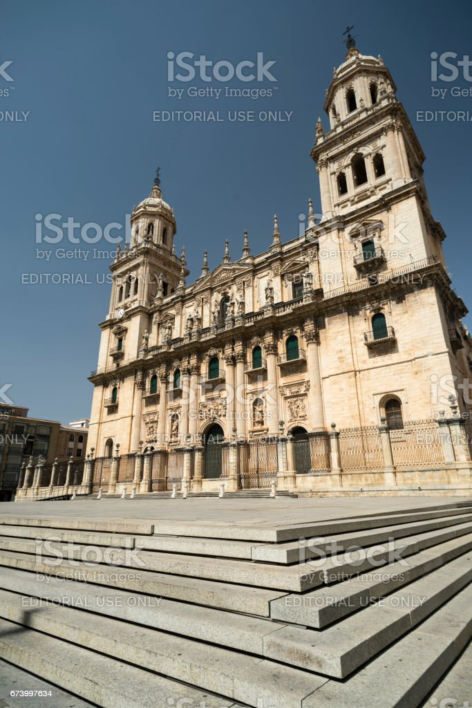 Jaen (Andalucia, Spain): cathedral stock photo
