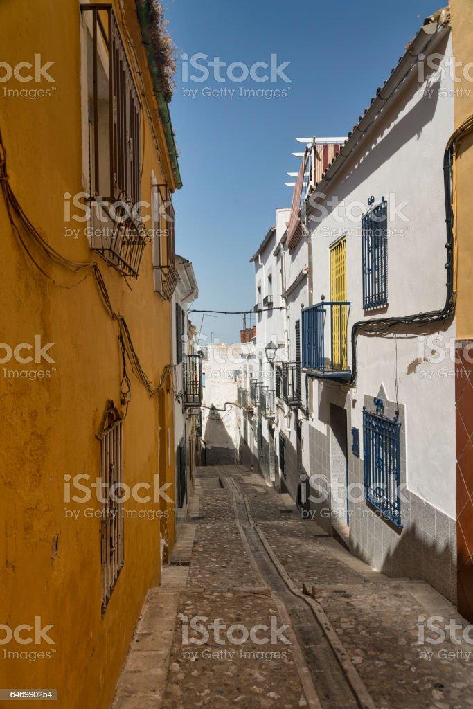 Jaen (Andalucia, Spain): old street stock photo