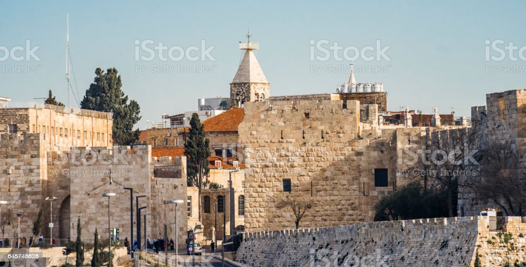 Jaffa gate. The entrance to the old town. stock photo