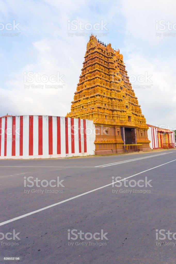 Jaffna Nallur Kandaswamy Kovil Gopuram Tower stock photo