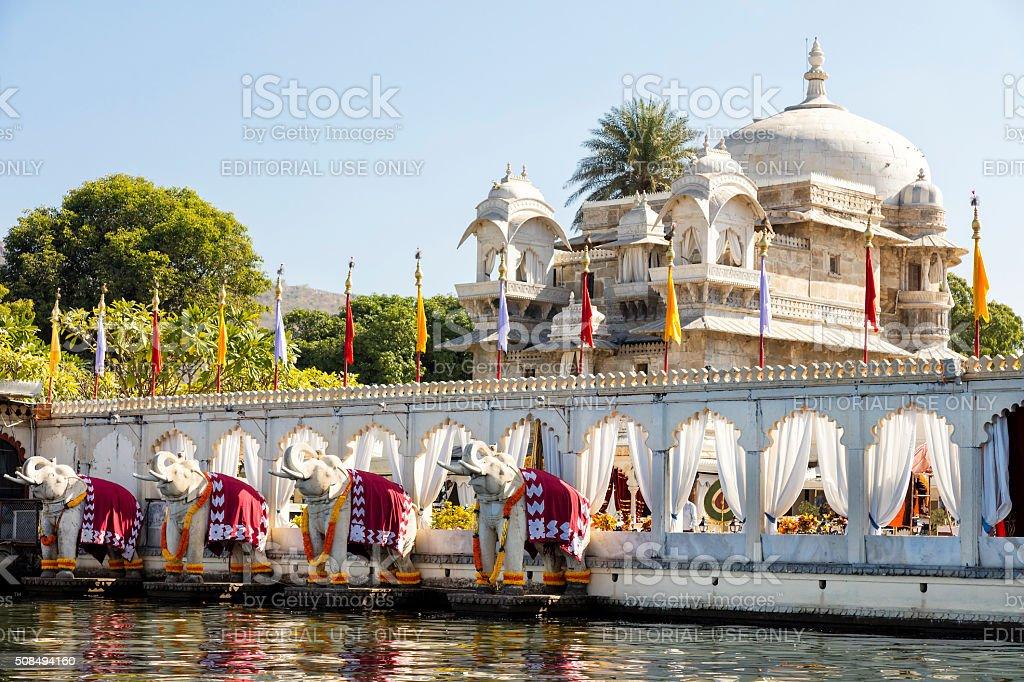 Jag Mandir Palace, Lake Pichola, Udaipur in Rajasthan, India stock photo