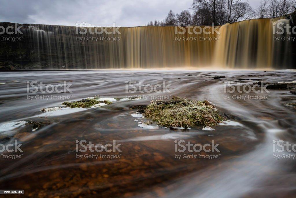 Jagala waterfall stock photo
