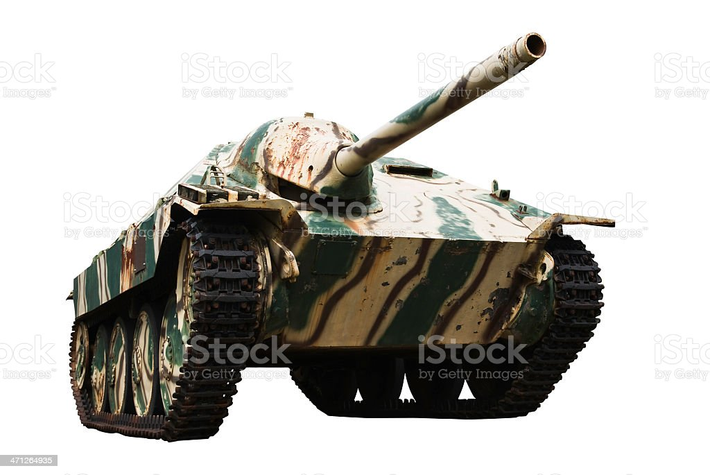 Jagdpanzer 38 on white stock photo