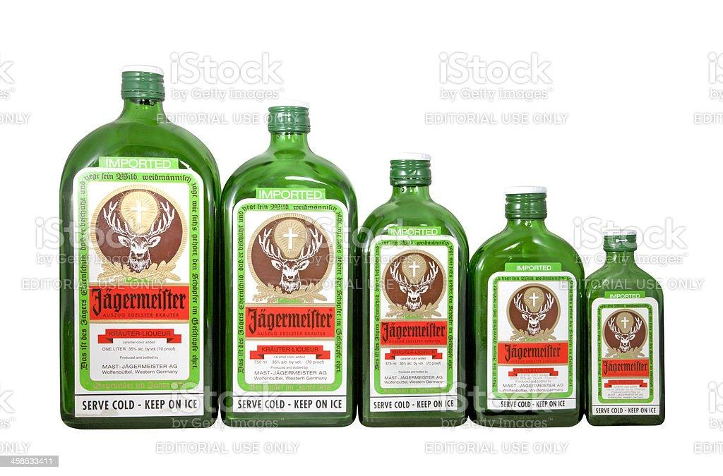 Jagermeister Bottles royalty-free stock photo