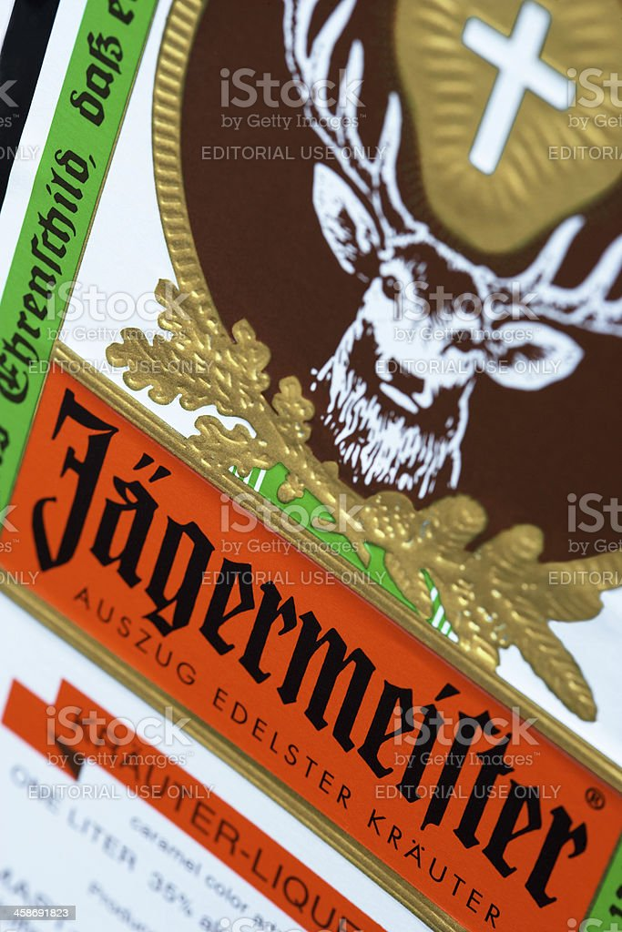 Jagermeister Close-up stock photo