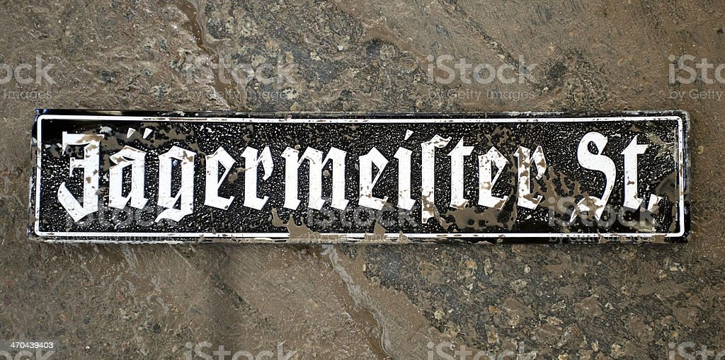 Jagermeister St. Sign stock photo