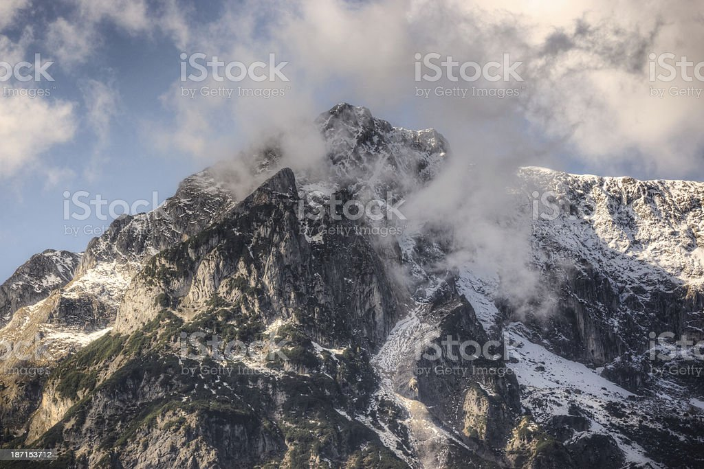 Jagged Alpine Peak royalty-free stock photo