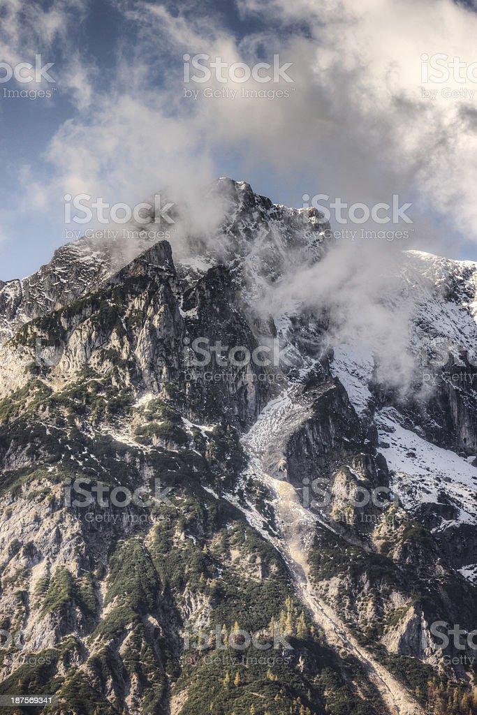Jagged Alpine Peak royalty-free stock photo