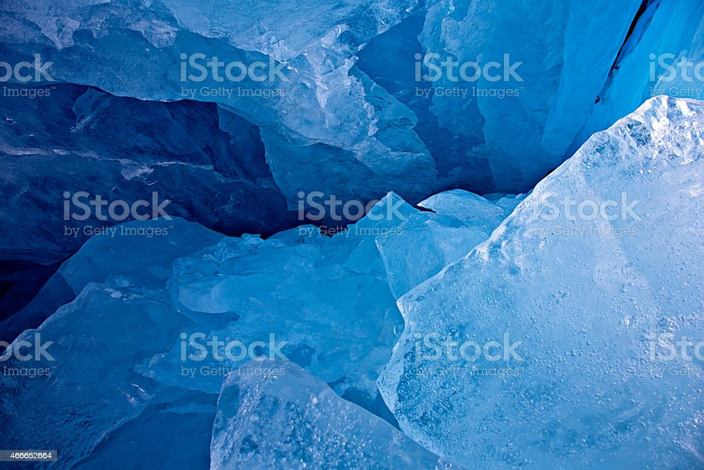 Jagged Glacial Ice stock photo
