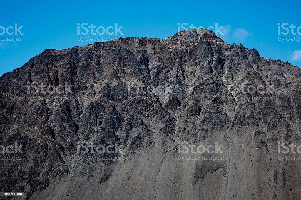 Jagged mountain royalty-free stock photo