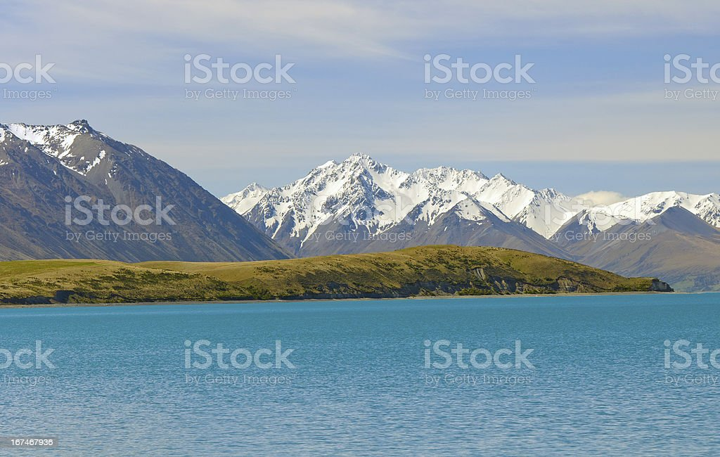 Jagged Mountains in Spring Snow royalty-free stock photo