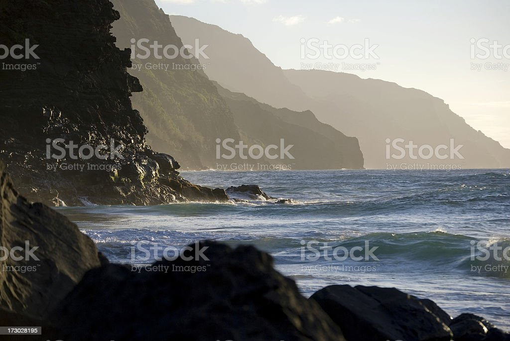 Jagged Na Pali Coast - Hawaii royalty-free stock photo