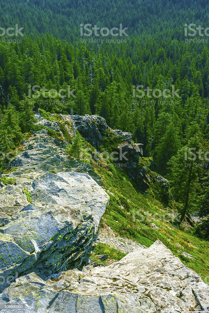 Jagged Narrow Rocky Ridge stock photo