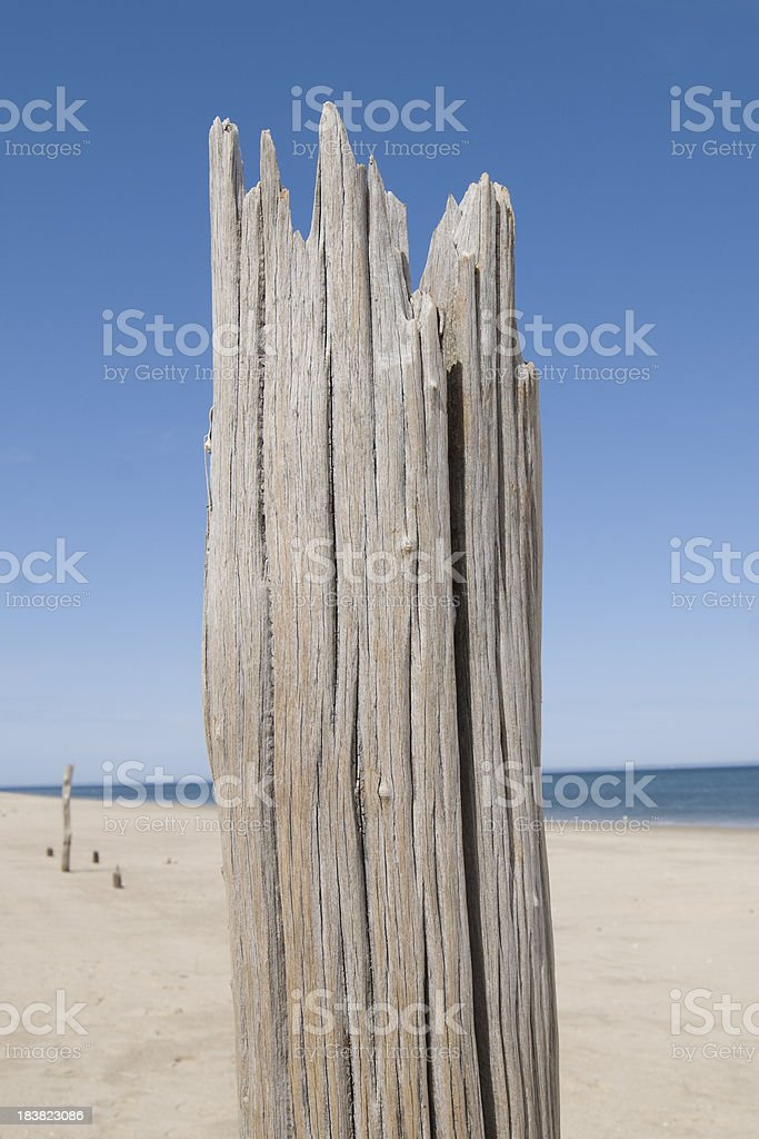 Jagged Old Post royalty-free stock photo