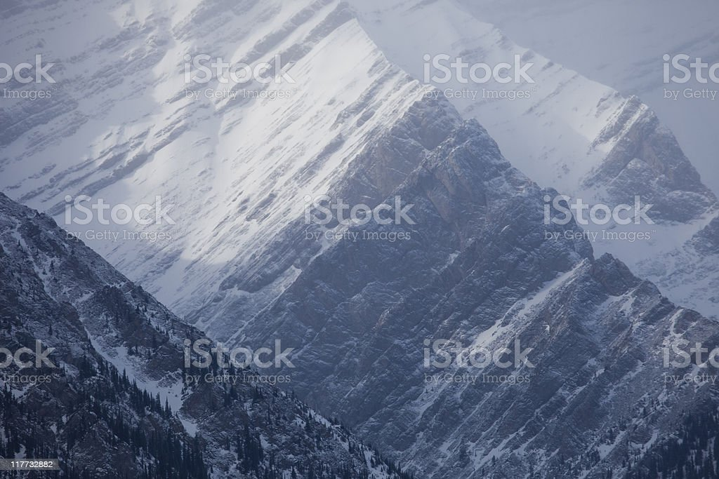 Jagged Peaks royalty-free stock photo