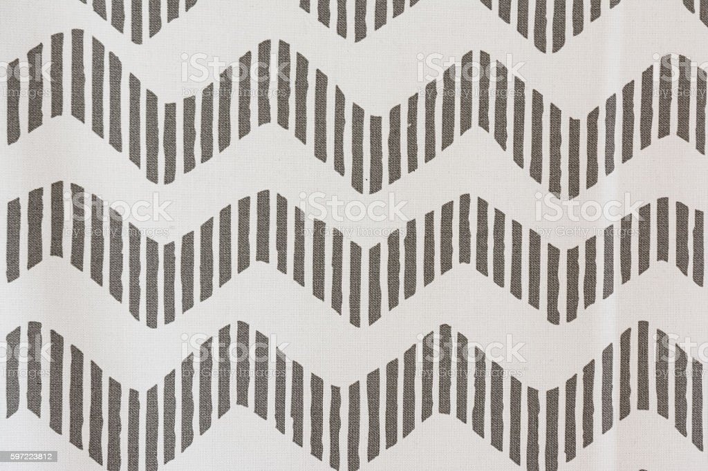 Jagged Zebra Grey Stripes Pattern PIllow Fabric Texture stock photo