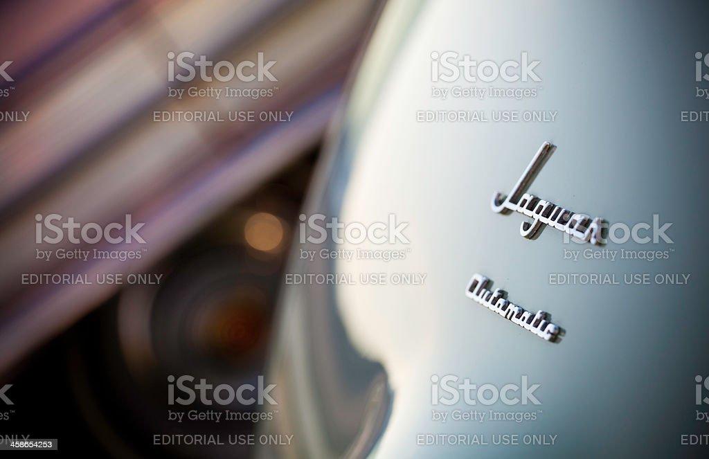 Jaguar Automatic Logo on Rear of Car stock photo