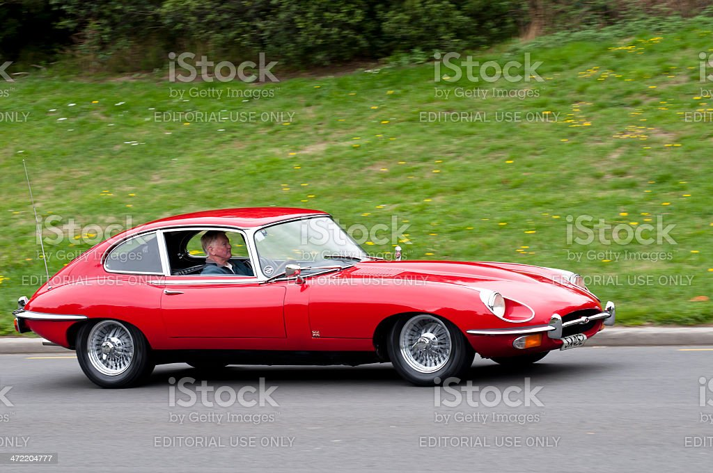 Jaguar E Type from 1969 royalty-free stock photo