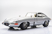 Jaguar E-Type classic sports car model