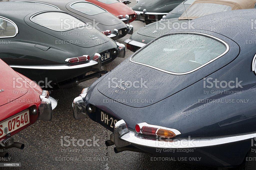 Jaguar E-type royalty-free stock photo