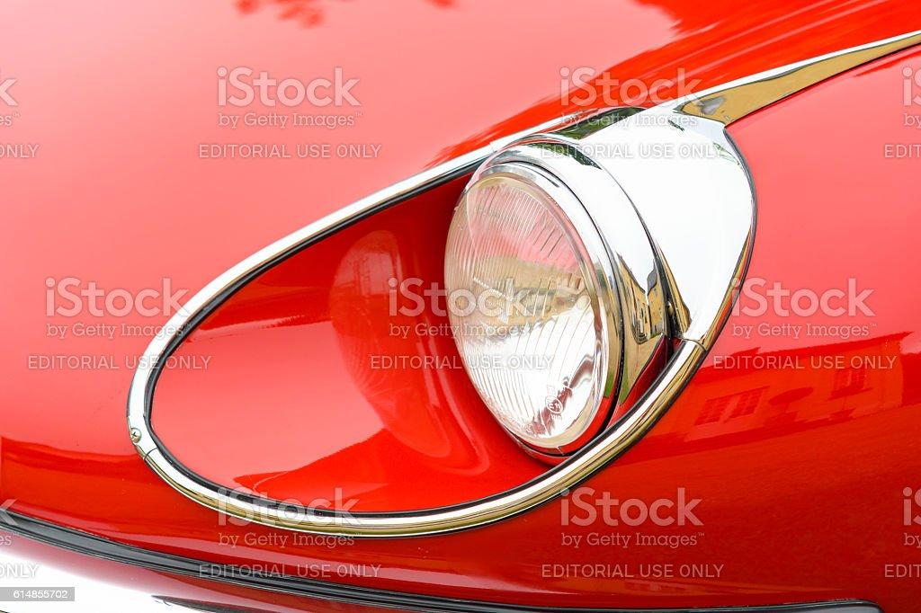 Jaguar E-Type Roadster classic British sports car stock photo