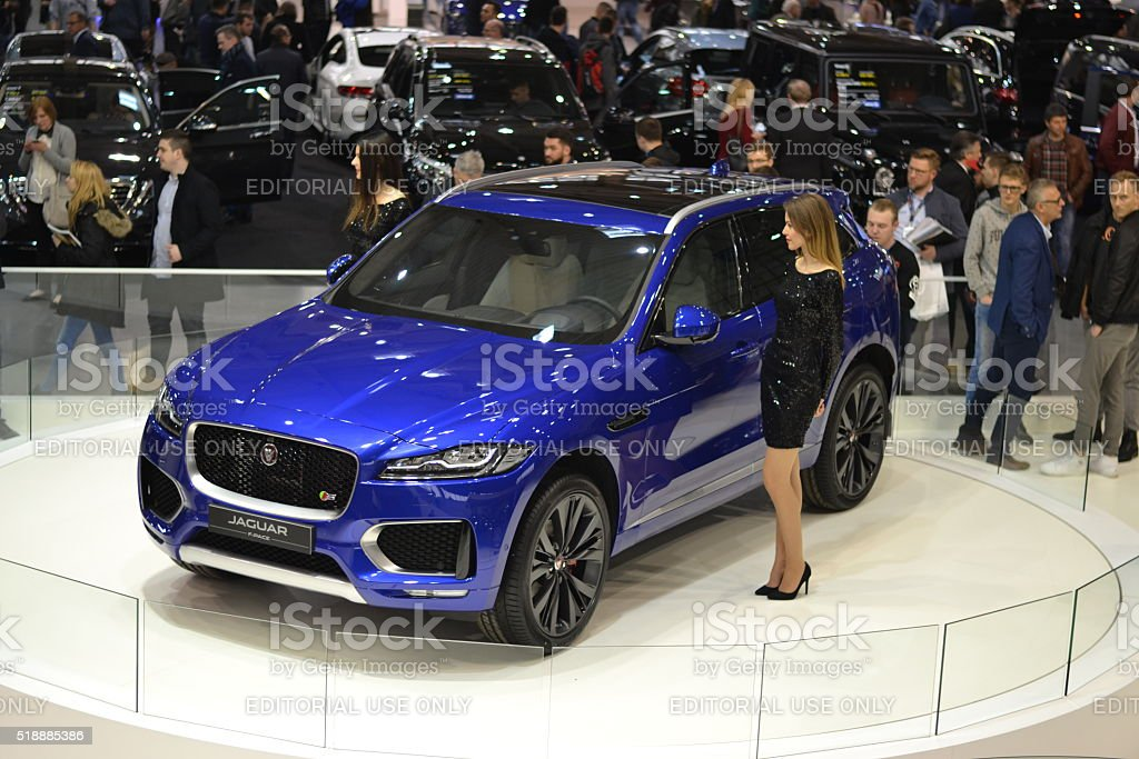 Jaguar F-Pace - first SUV from Jaguar stock photo