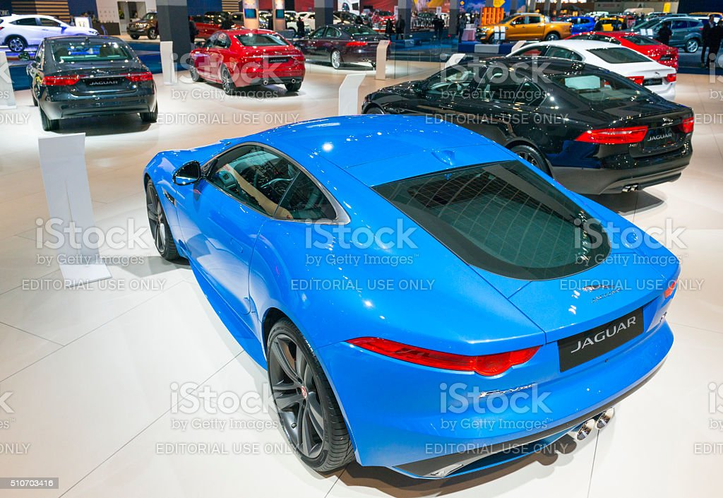 Jaguar F-Type S coupe sports car at the Jaguar stand stock photo