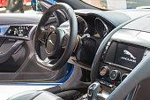 Jaguar F-Type S coupe sports car interior