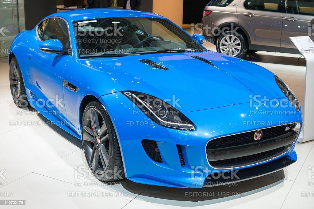 Jaguar F-Type S coupe sports car stock photo