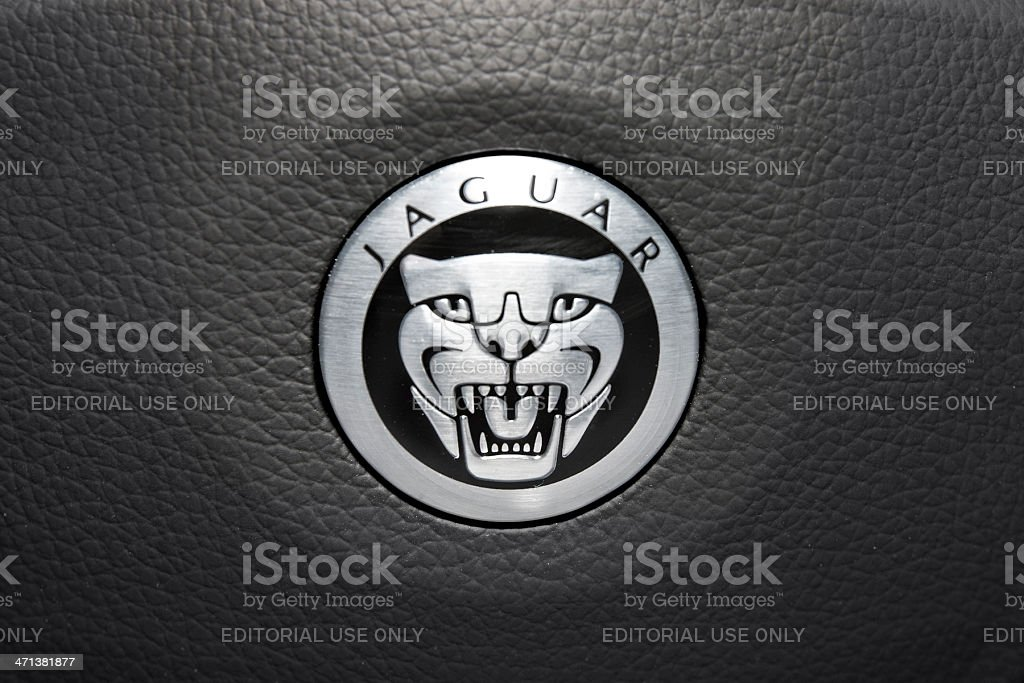 Jaguar Logo royalty-free stock photo