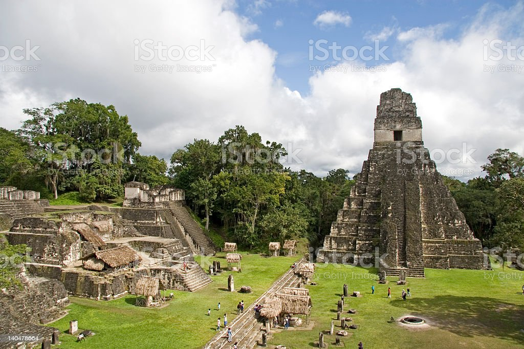 Jaguar Pyramide and ruins stock photo
