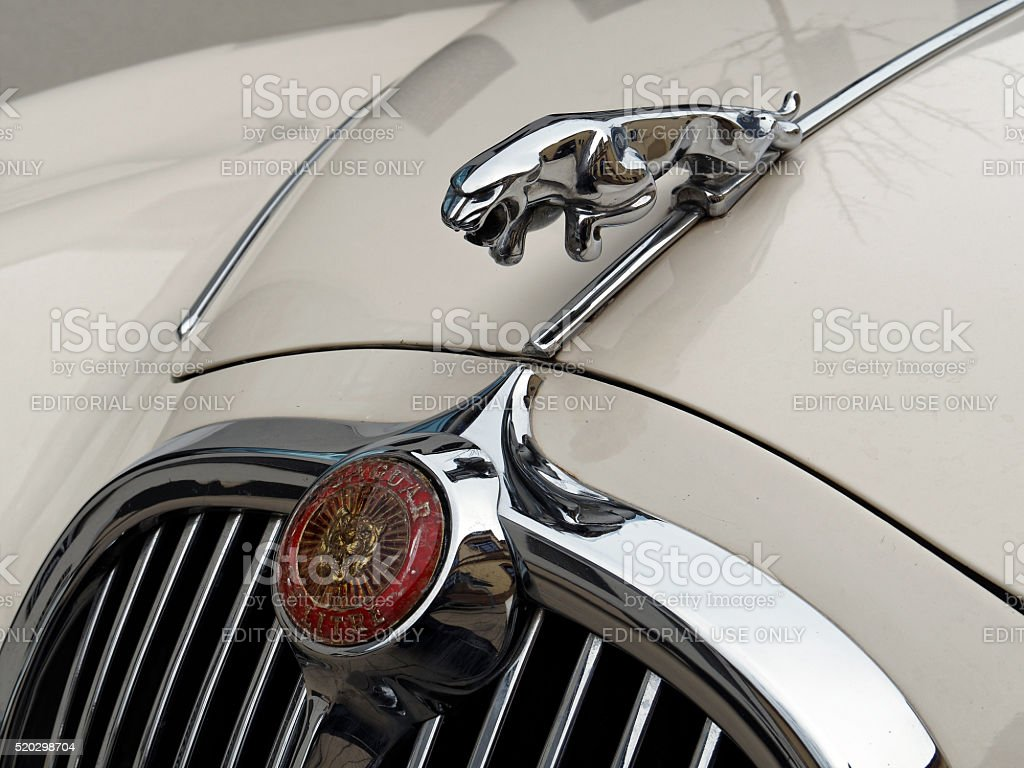 Jaguar Vintage Classic Car Symbol stock photo